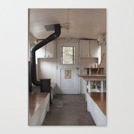 White Pass Caboose Cabin Interior Canvas Print