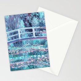 Monet The Water Lily Pond Pastel Ice Blue Pink Stationery Cards