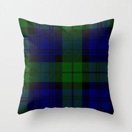 Scottish Campbell Tartan Pattern-Black Watch #2 Throw Pillow