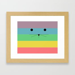 Rainbow Kitty Framed Art Print