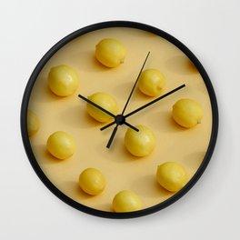 Yellow Lemon Wall Clock