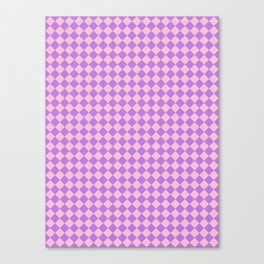 Cotton Candy Pink and Lavender Violet Diamonds Canvas Print