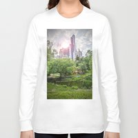 central park Long Sleeve T-shirts featuring Central Park Dreams by MikeMartelli