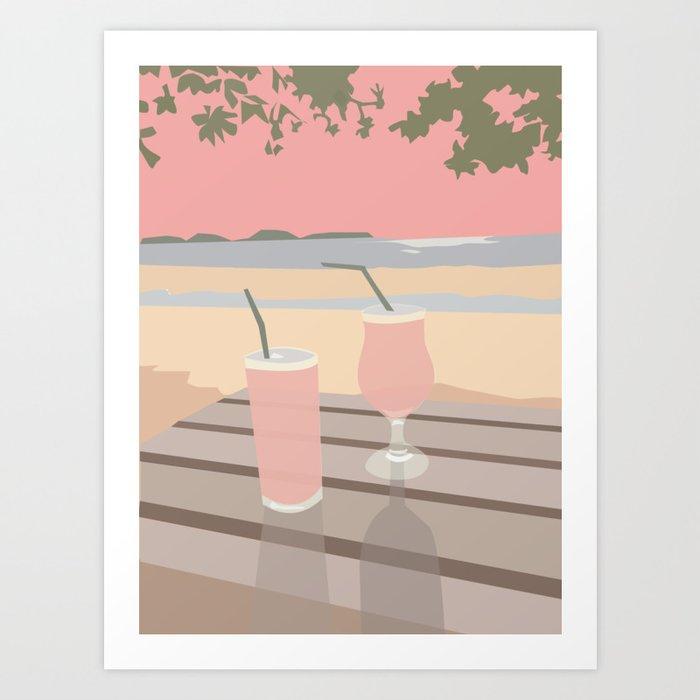 late summer night Art Print