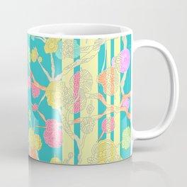Bright Cherry Blossom Stripe Coffee Mug