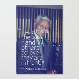 Inspirational Quotes - Motivational - 94 Nelson Mandela Canvas Print