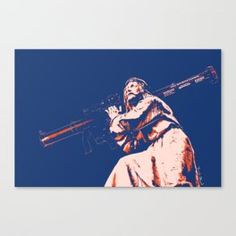 Rocket Propelled Christ - Who WOuld Jesus Blow Up Canvas Print