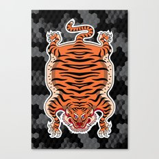 TIBETAN TIGER (black) Canvas Print