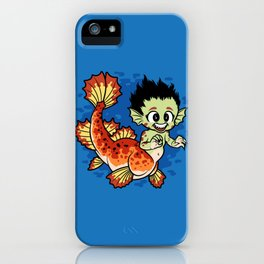 Crimson Pond Dragon iPhone Case