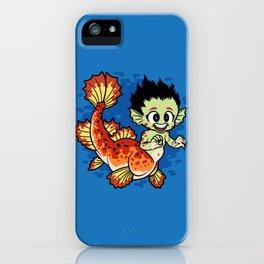 Crimson Pond Dragon iPhone Case