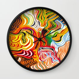 colored flow Wall Clock