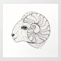 aries Art Prints featuring aries by NikaQ