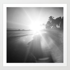 Key West Beach Sunset II Art Print