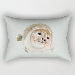 Sea Lion Watercolor Rectangular Pillow