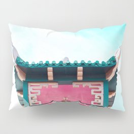 Travel photography Chinatown Los Angeles V temple front Pillow Sham