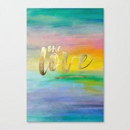 One Love, Ocean Sunrise 2 Canvas Print