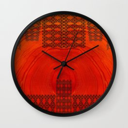 City in a morning Wall Clock