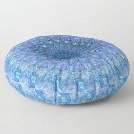 Radial Blue Floor Pillow