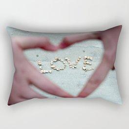 Love, Love, Love Rectangular Pillow