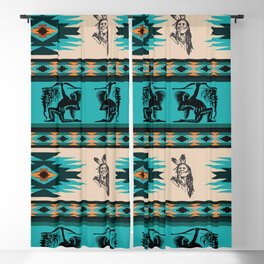 American Native Pattern No. 127 Blackout Curtain