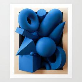 Framed - Primitive Shapes Art Print