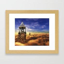 Guardian Towers . Framed Art Print
