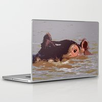 hippo Laptop & iPad Skins featuring Hippo by Underlying Art
