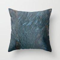 school Throw Pillows featuring School DPG150527a  by CSteenArt