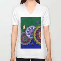 india V-neck T-shirts featuring Blooming India by Tami Cudahy