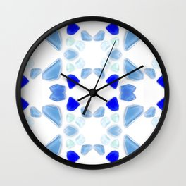 Sea Glass 4 Wall Clock