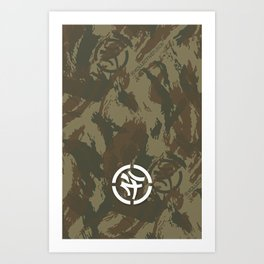 KLCTVEfusion Tiger Stripe Camo print Art Print