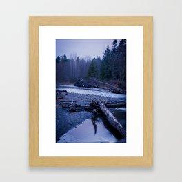 Rushing Promises Framed Art Print