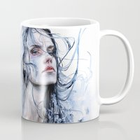 shipping Mugs featuring obstinate impasse by agnes-cecile