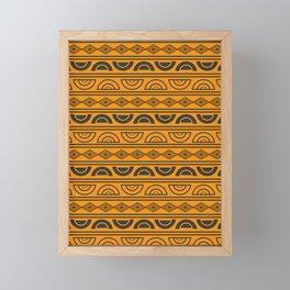 Mud cloth geometry Framed Mini Art Print