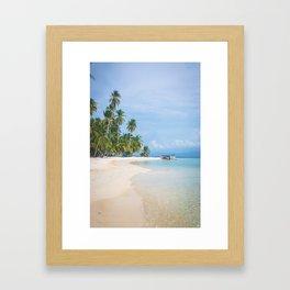 The San Blas Islands in Panama. Isla Iguana Framed Art Print