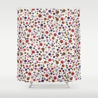 constellations Shower Curtains featuring Constellations by Ninola