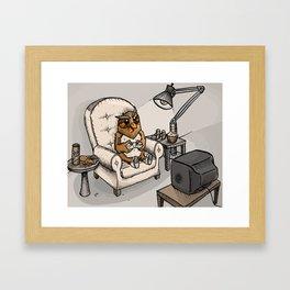 Gamer Kid Framed Art Print