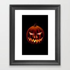 Jack o' Lantern Framed Art Print