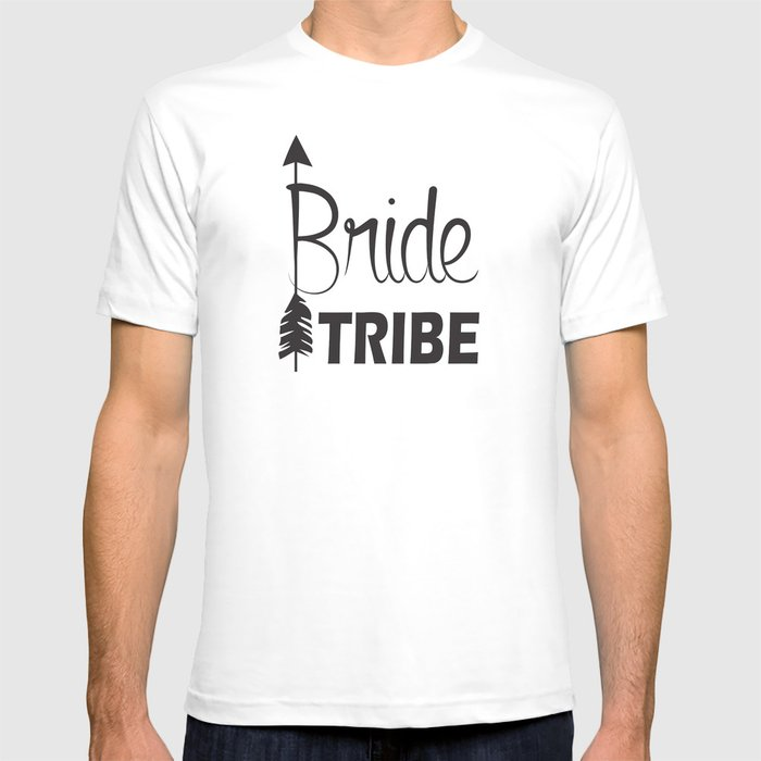 4da4ba3972685 Bride Tribe Arrow Groom Tribe Bridal Party Bachelorette T-shirt