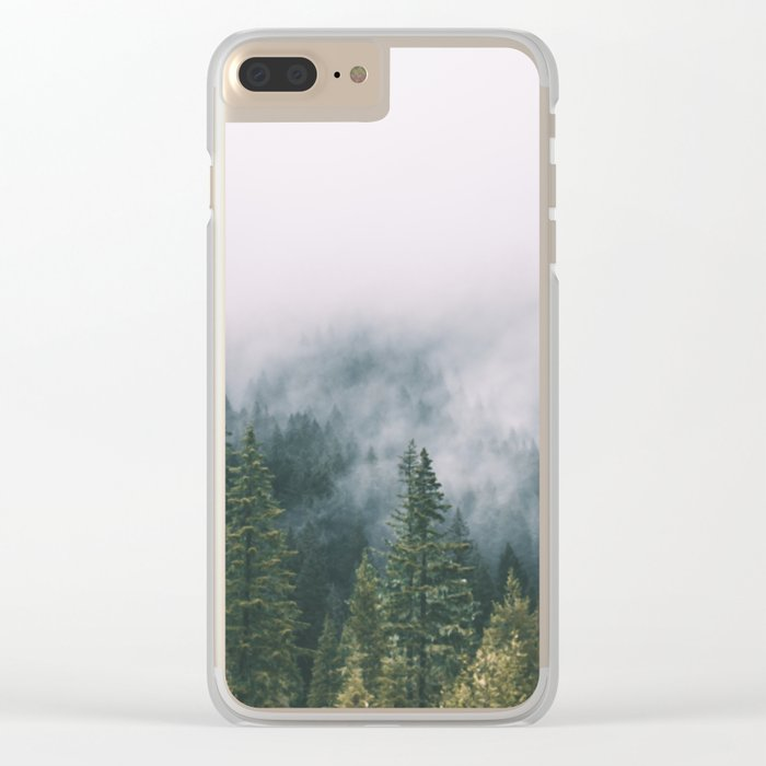 Forest Fog XI Clear iPhone Case