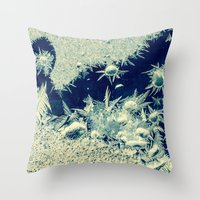 jack frost Throw Pillows featuring jack frost by Bonnie Jakobsen-Martin