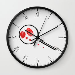 Detectives Magnifying Glass Wall Clock