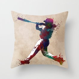 Baseball player 10 #baseball #sport Throw Pillow