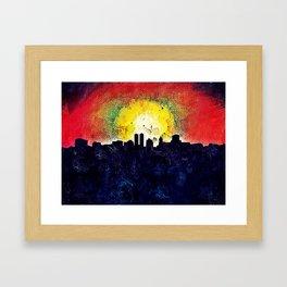 Skyline Peoria Framed Art Print