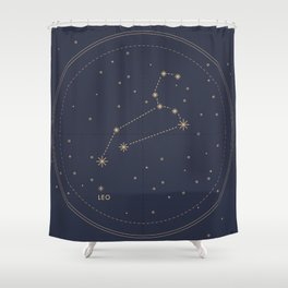 Vintage Leo Shower Curtain