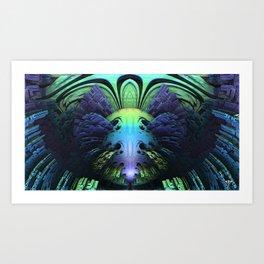 Clowning Around    #society6 #fractal #buy Art Print