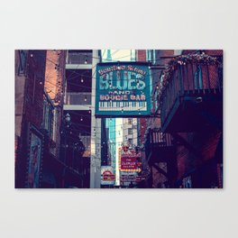 Historic Printer's Alley Nashville Tennessee Canvas Print