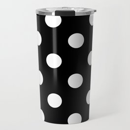 Polkadot (White & Black Pattern) Travel Mug