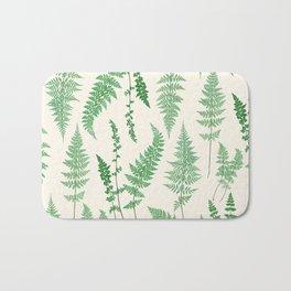Ferns on Cream I - Botanical Print Bath Mat