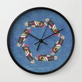 Sock Monkey Water Ballet Wall Clock